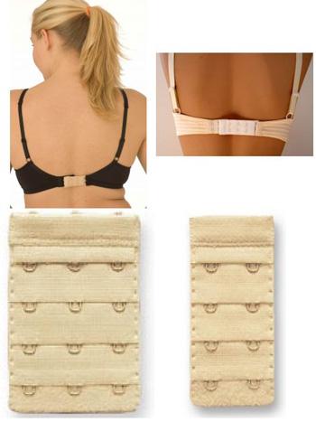 e222e275f8 Bluelans Lady 5 Pcs Bra Extender with 2 Hook Soft Bra Strap Underwear Back  Band Extension