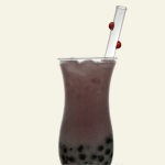 decorative dots in bubble tea