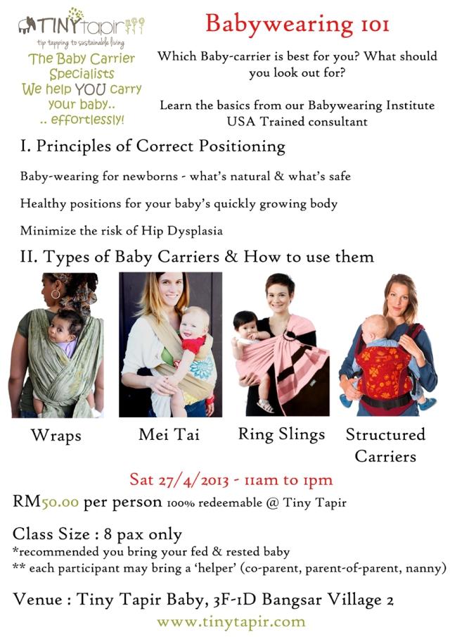 Babywearing Class 101